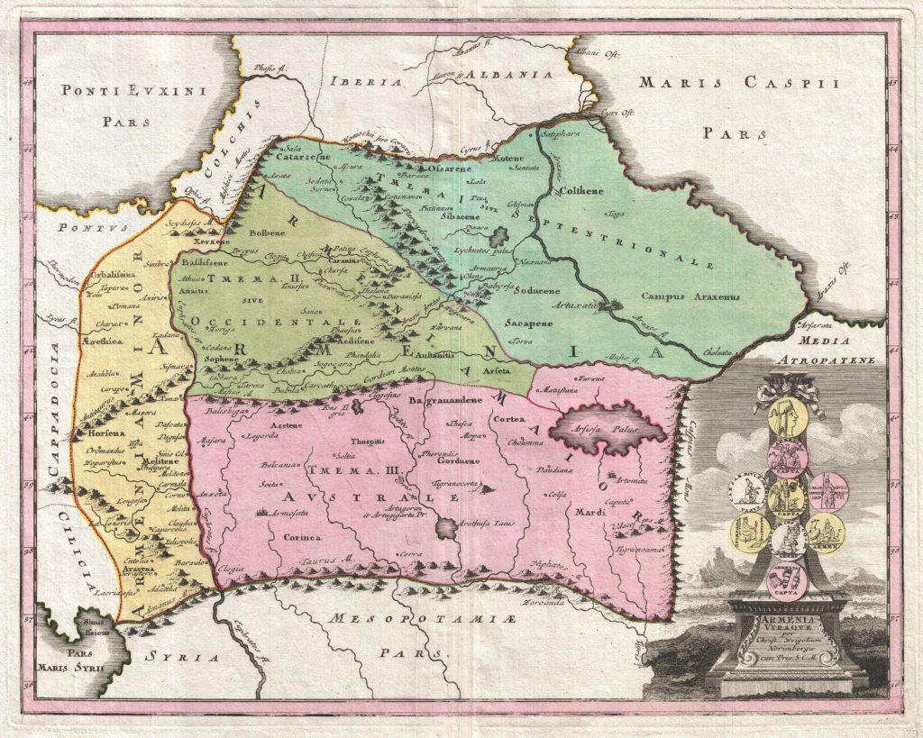 Armenia Vtraque., Weigel, C., Senca Historiarum Orientalis Quinti Seculi P.N. Chr., 1720.