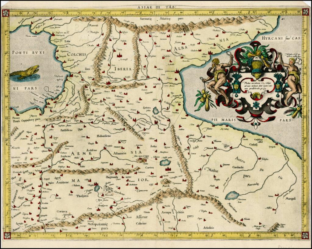 Gerard Mercator:  Tabula Asiae III [Armenia, Georgia, Turkey, etc.]